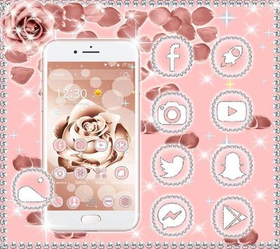 Beautiful Rose Gold Theme apk screenshot