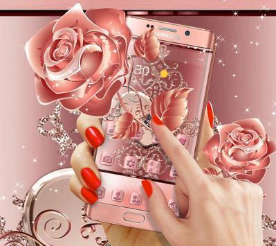 Rose Gold Love Hearts Butterfly Theme screenshot 2