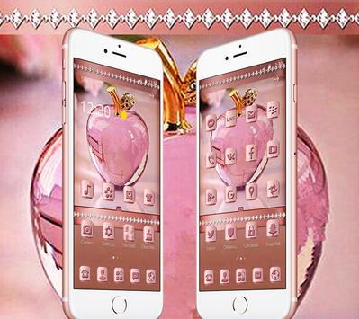 Rose Gold Apple Crystal Theme poster