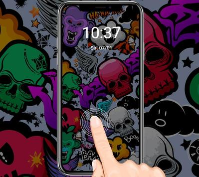 Graffiti Skull Halloween Ghost Theme apk screenshot