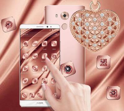 Pink Rose Gold Silk Theme poster