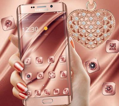 Pink Rose Gold Silk Theme screenshot 2