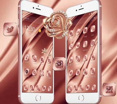 Pink Rose Gold Silk Theme screenshot 3