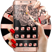 Rose Gold Tattoo Beauty Theme icon