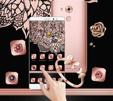 Rose Gold Tattoo Beauty Theme apk screenshot
