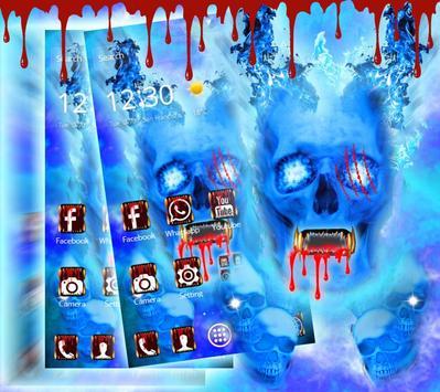 Blue Bloody Skull Theme poster