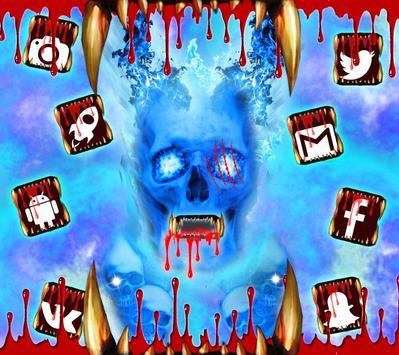 Blue Bloody Skull Theme screenshot 1