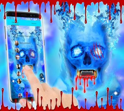 Blue Bloody Skull Theme screenshot 2