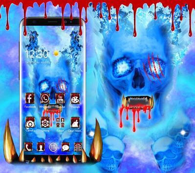 Blue Bloody Skull Theme screenshot 3