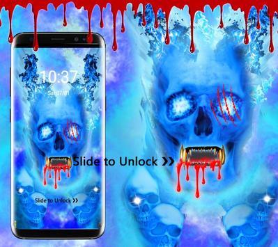 Blue Bloody Skull Theme screenshot 4