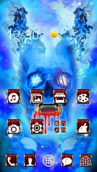 Blue Bloody Skull Theme screenshot 6