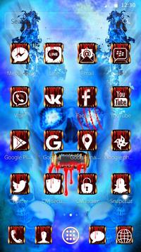 Blue Bloody Skull Theme screenshot 7