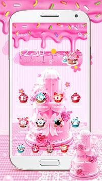 Pink Sweet Cake Theme poster
