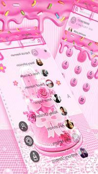 Pink Sweet Cake Theme screenshot 1