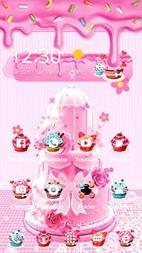 Pink Sweet Cake Theme screenshot 3