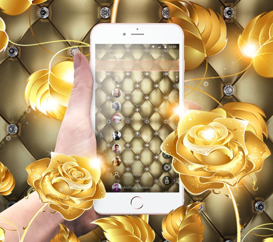 Yellow Rose Theme Diamond Wallpaper For Android Apk Download
