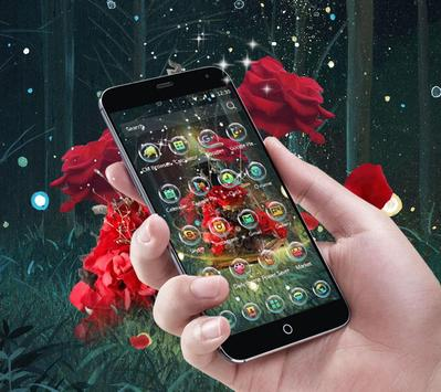 The mysterious forest elf roses love theme apk screenshot