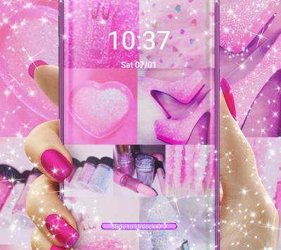 Pink Photo Grid Freestyle Collage Theme screenshot 4