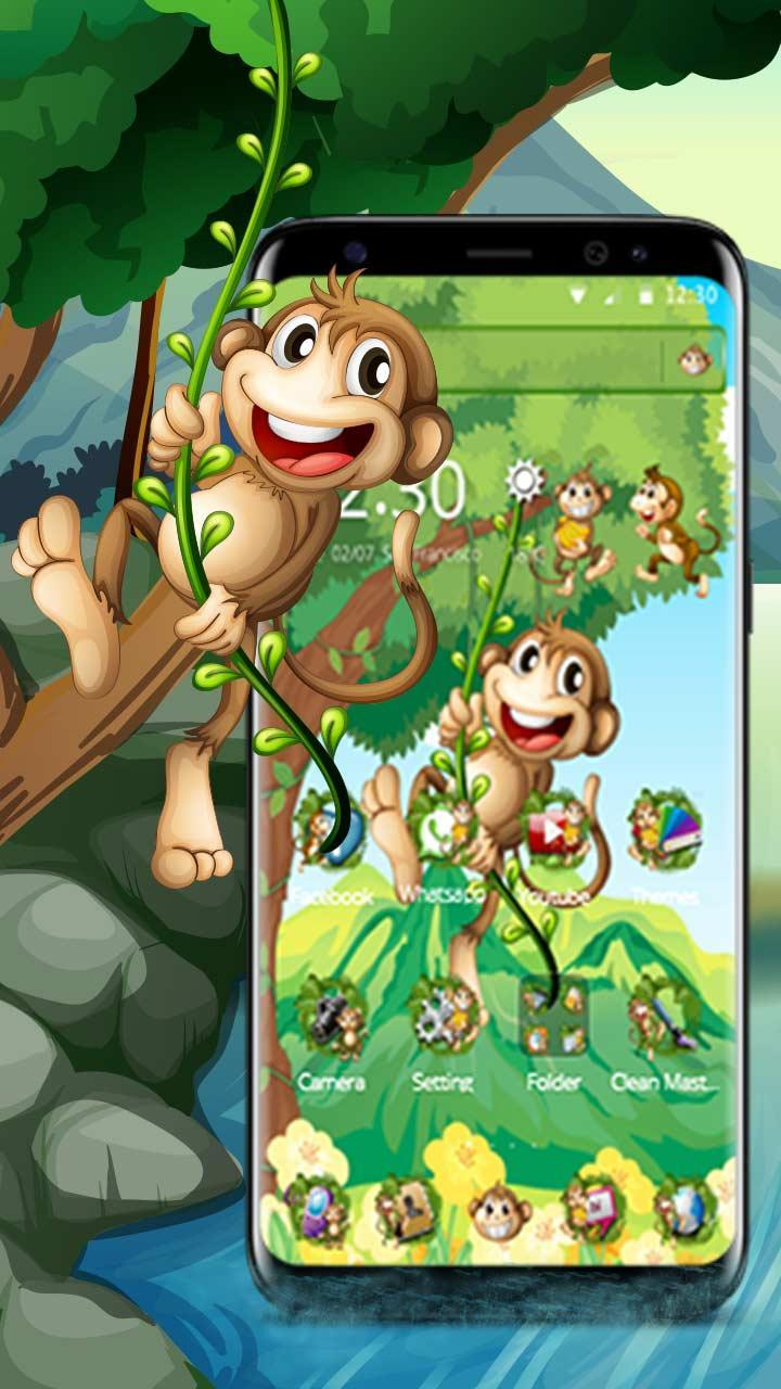 Tema Monyet Kartun Lucu for Android APK Download