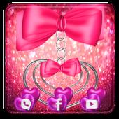 pretty pink love theme pretty wallpaper icon