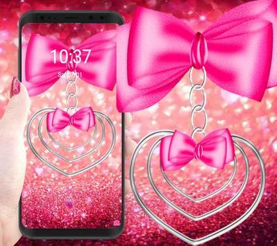 pretty pink love theme pretty wallpaper poster