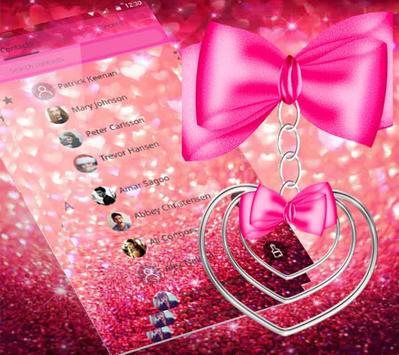 pretty pink love theme pretty wallpaper screenshot 1