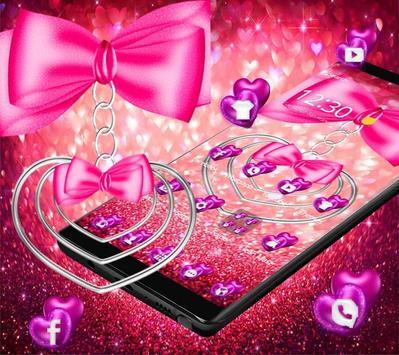 pretty pink love theme pretty wallpaper screenshot 2