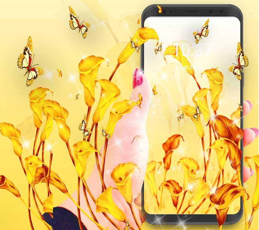 Yellow Flower Theme Yellow Wallpaper For Android Apk Download