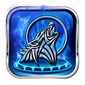 Ice moon fire wave mobile phone theme icon