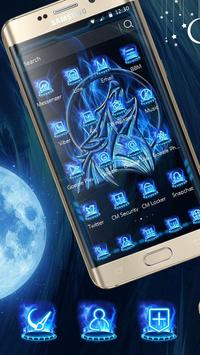 Ice moon fire wave mobile phone theme apk screenshot
