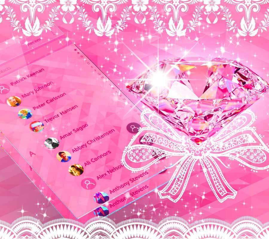 Pink Diamond Wallpaper: Beauty Pink Diamond Theme Diamond Wallpaper For Android
