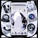 Silver Crystal Launcher Theme APK