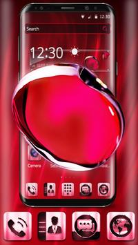 Red Crystal Edge Effect Theme poster
