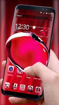 Red Crystal Edge Effect Theme screenshot 1