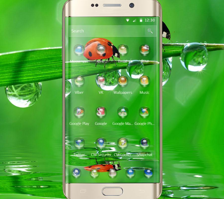 Green Nature Water Drops Wallpaper Theme For Android Apk