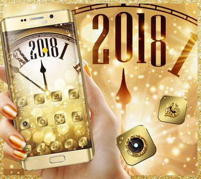 Golden Luxury Roman Clock 2018 Theme poster