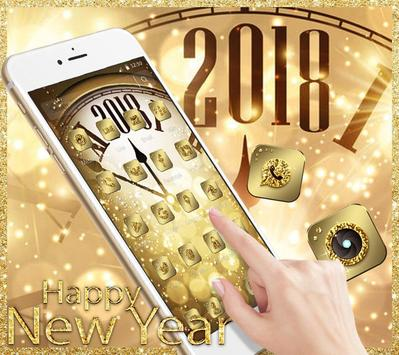 Golden Luxury Roman Clock 2018 Theme screenshot 1