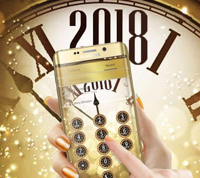 Golden Luxury Roman Clock 2018 Theme screenshot 2