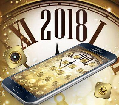 Golden Luxury Roman Clock 2018 Theme screenshot 3