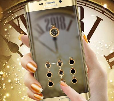 Golden Luxury Roman Clock 2018 Theme screenshot 4