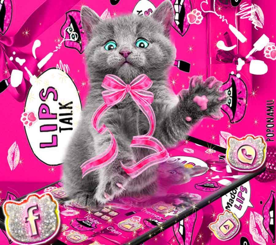 Amusing Cute Cat Theme Pink Wallpaper For Android Apk Download