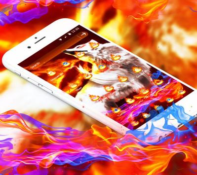 Golden Totem Fire Wolf Theme apk screenshot