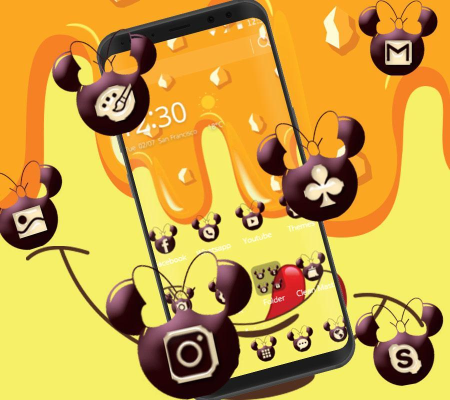 Cute Yellow Micky Theme Yellow Wallpaper For Android Apk