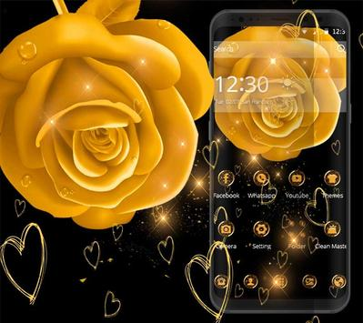 golden flower theme golden wallpaper for Android - APK Download