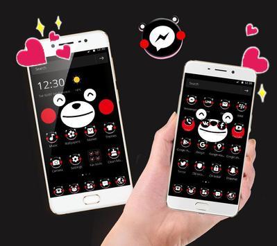 Black Lovely Bear Blusher Theme screenshot 1
