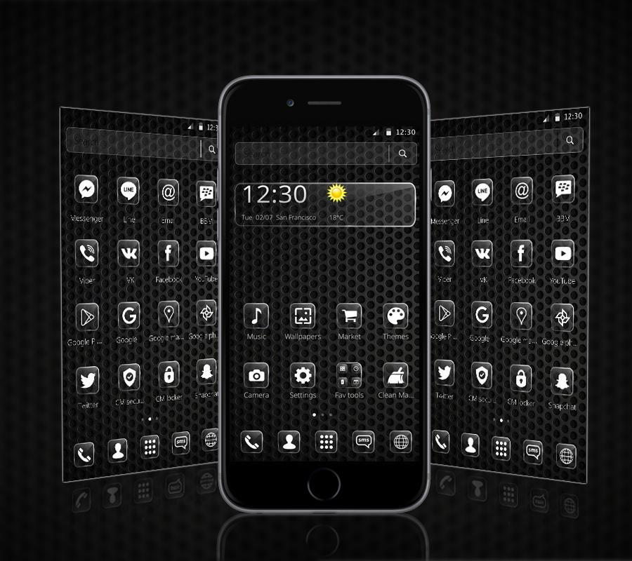 cool black theme for android apk download