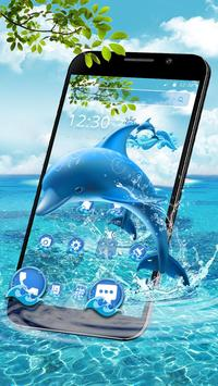 Aquatic Dolphin Mammals Theme poster
