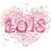 New Year Pink Kitty Theme icon