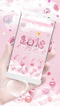 New Year Pink Kitty Theme poster