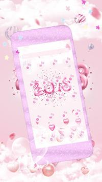 New Year Pink Kitty Theme screenshot 2